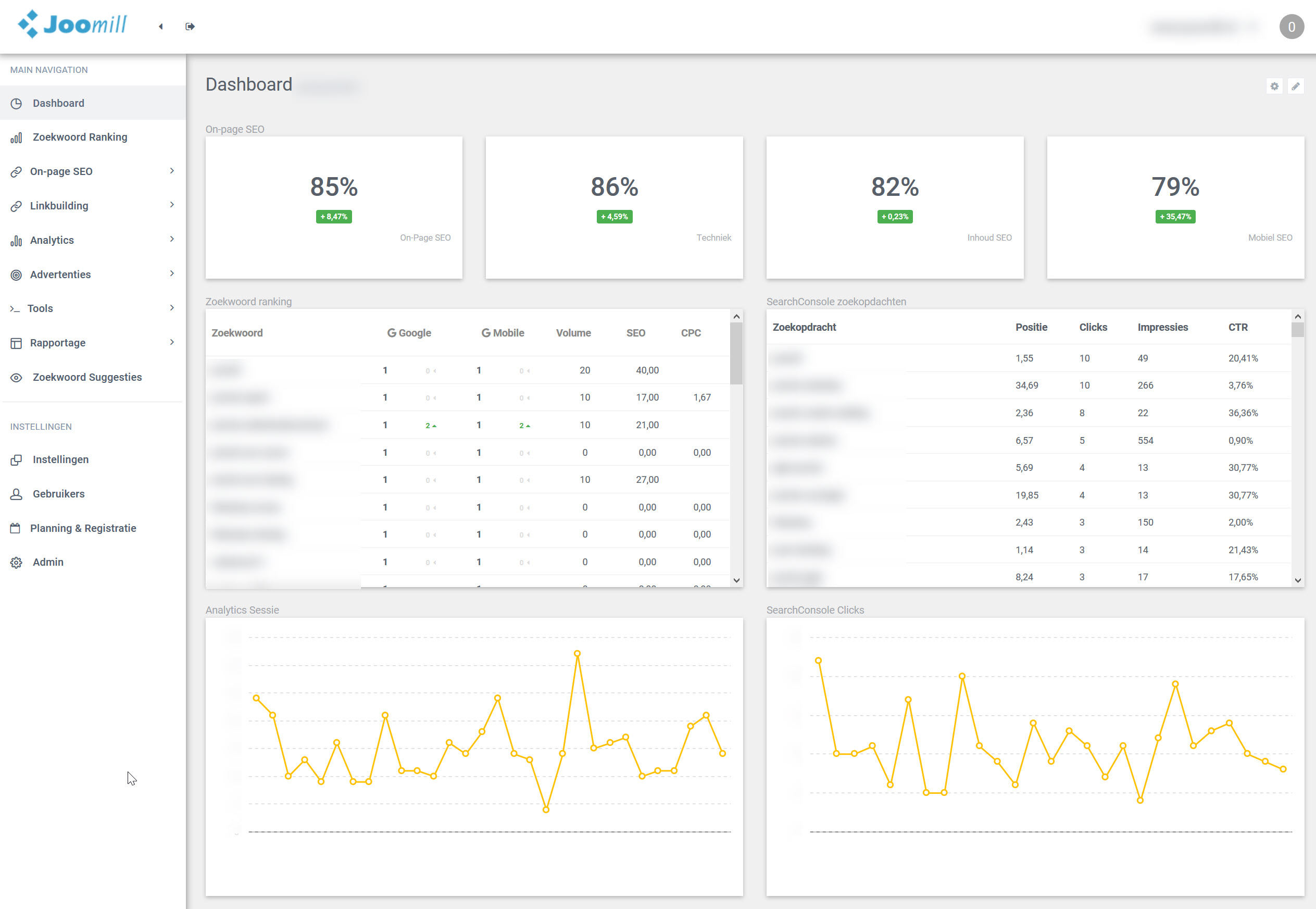 seo dashboard preview