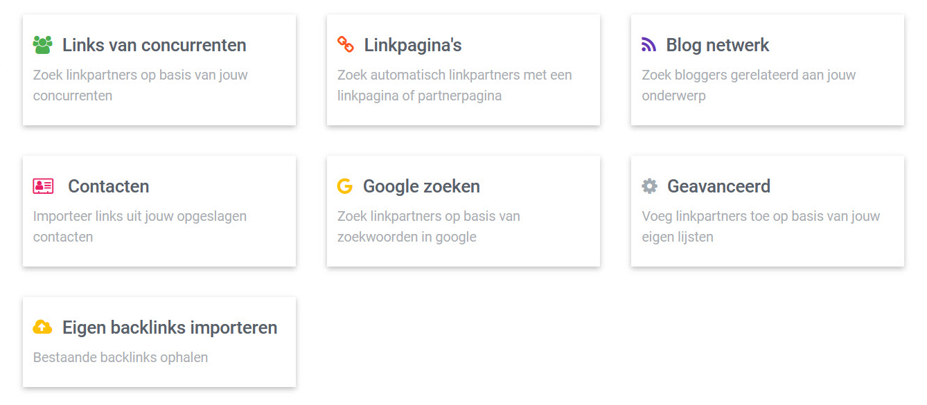 linkpartners zoeken